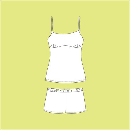 pyjamas: Pyjamas for women. pajamas jersey. homewear. shorts. top.