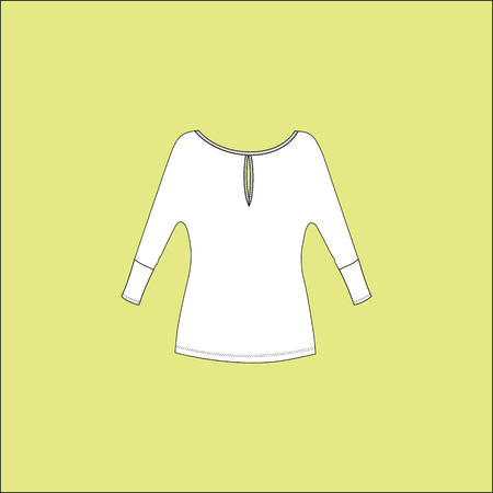 sleeves: Womens T-shirt with long sleeves. blouse jersey Illustration