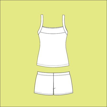night suit: Pyjamas for women. pajamas jersey. homewear. shorts. top.