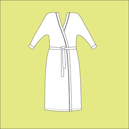 bathrobe: Dressing gowns for women. bathrobe home. Illustration