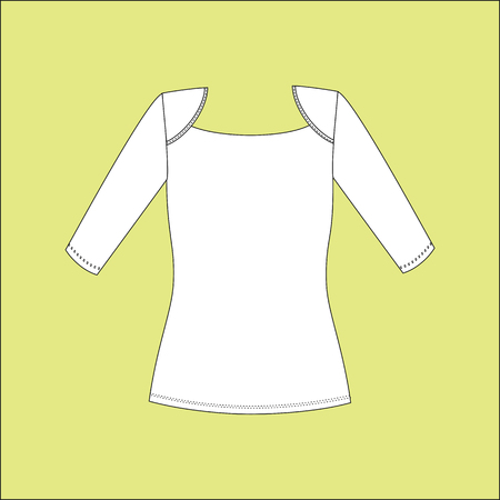 sleeved: Womens T-shirt with long sleeves. blouse jersey Illustration