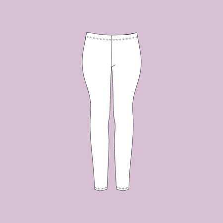 pajama: Trousers for women. pajama pants. Illustration