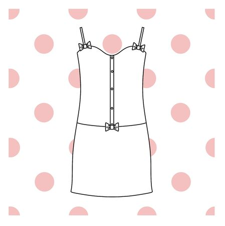 evening dress: Sundress, Evening dress, combination or nightie, the silhouette.  nightgown female Illustration
