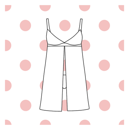 Sundress, Evening dress, combination or nightie, the silhouette.  nightgown female Illustration