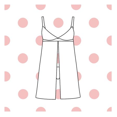sundress: Sundress, Evening dress, combination or nightie, the silhouette.  nightgown female Illustration