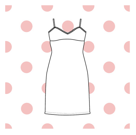 nightgown: Sundress, Evening dress, combination or nightie, the silhouette.  nightgown female Illustration