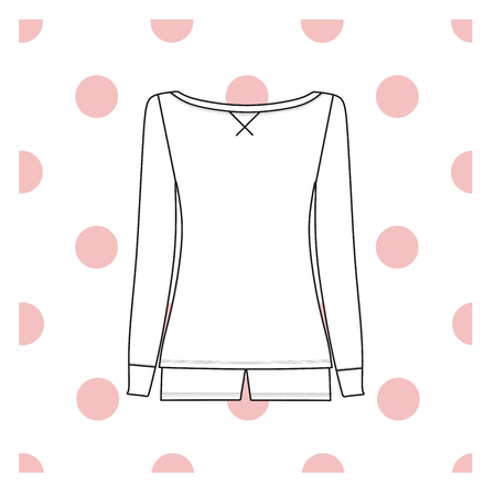 pyjama: Vector illustration of womens sleepwear.