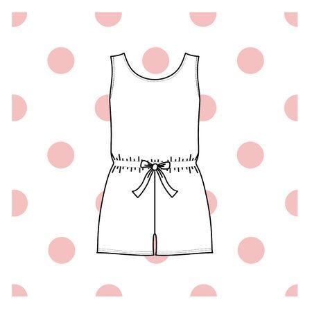 pyjama: Vector illustration of womens sleepwear.