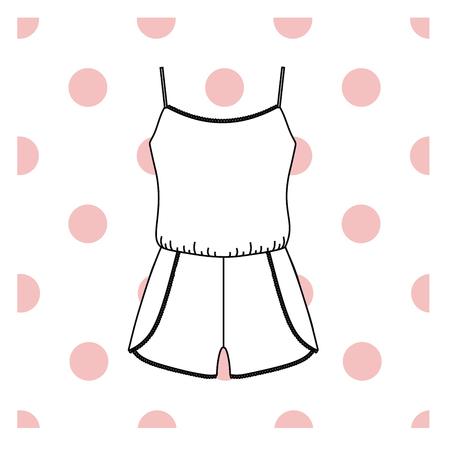 Vector illustration of women's sleepwear. Vector Illustration