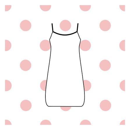 nightdress: Womens nightie. home jersey dress. Illustration