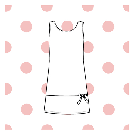 Womens nightie. home jersey dress. Illustration