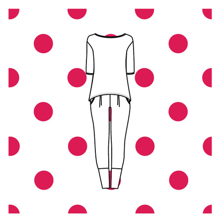 sleepwear: Vector illustration of womens sleepwear.