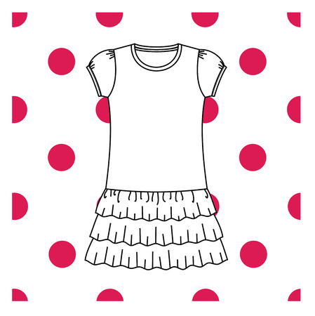 nightie: bedgown jersey drawn vector. nightie Illustration