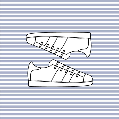 sneakers. sport shoes. shoes with laces.