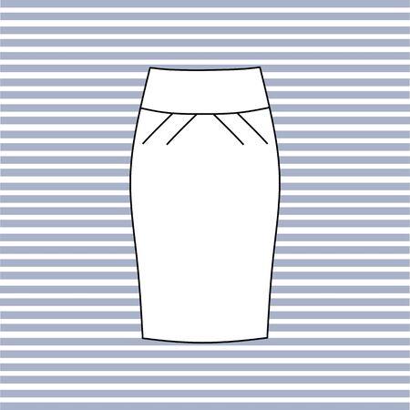 skirt: Womens skirt. casual skirt. Illustration