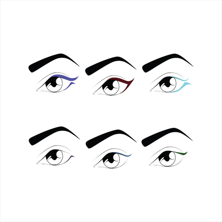 eyeliner: eye makeup. cosmetics. shadow.  mascara. eyeliner