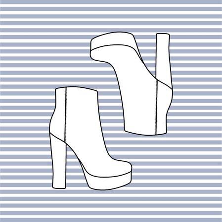footwear: footwear. womens shoes. casual shoes Illustration