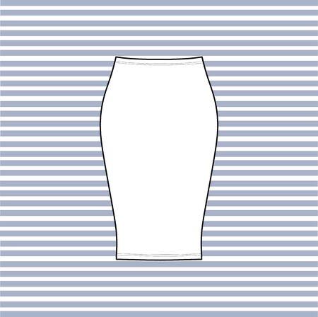 casual: Womens skirt. casual skirt. Illustration
