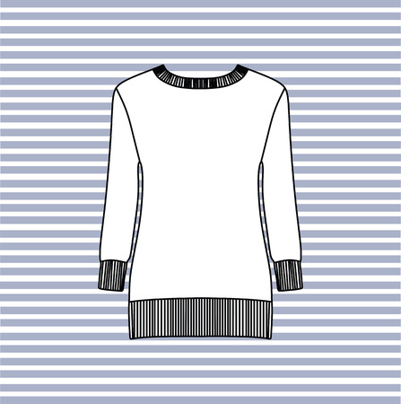 jumpers: Female jumpers.  ladies sweater. Illustration
