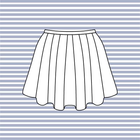 womens: Womens skirt. casual skirt. Illustration