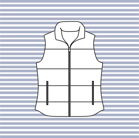 vest: Warm vest with a zipper. vest autumn.