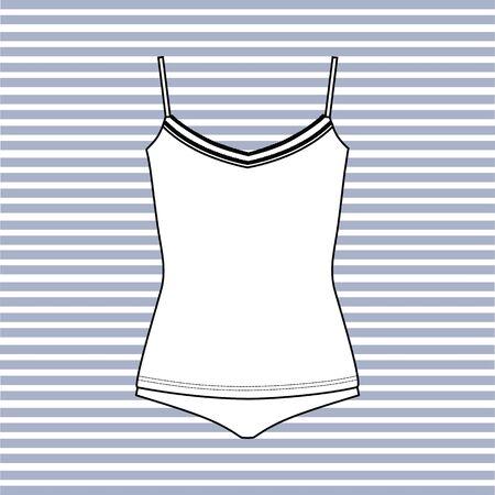panties: Lingerie drawn vector. panties. T-shirt.