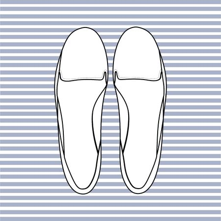 footwear: footwear. womens shoes. casual shoes Illustration