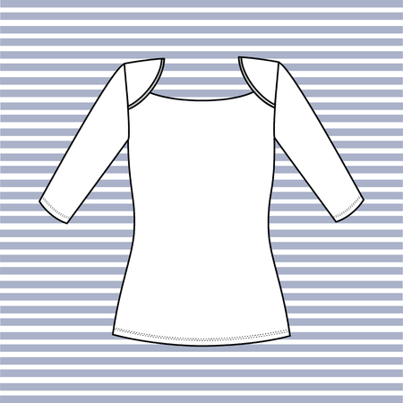 jersey: blouse lady jersey. jumper drawn in the vector Illustration