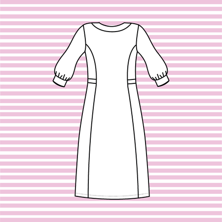 nightgown: nightgown women painted in the vector. nightie.
