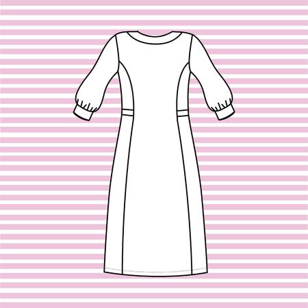 nightgown women painted in the vector. nightie.