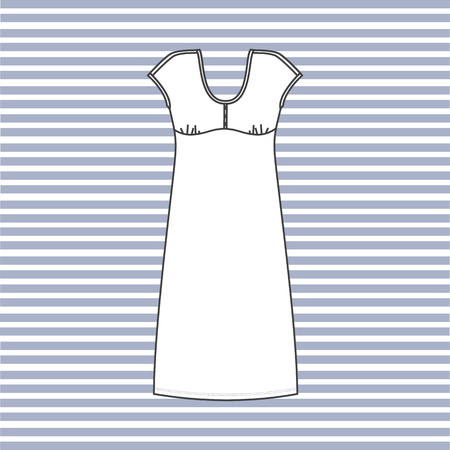 nightie: nightgown women painted in the vector. nightie.