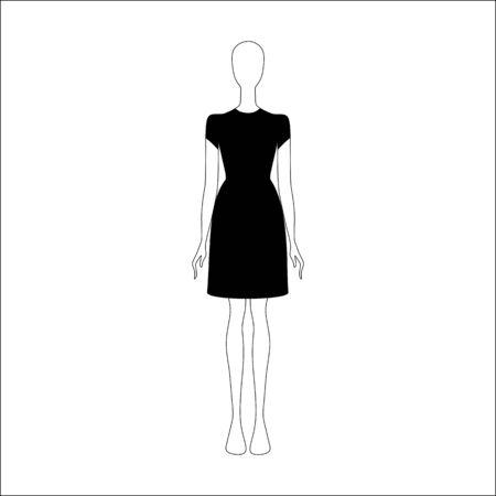 womens clothing: Dress drawn vector. womens clothing.
