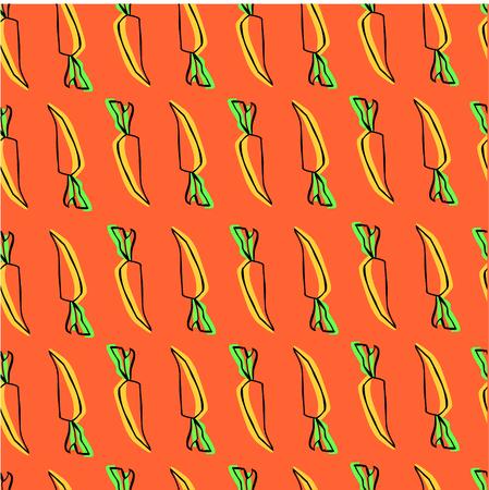 autumn vegetables: print with carrots. autumn vegetables. Illustration