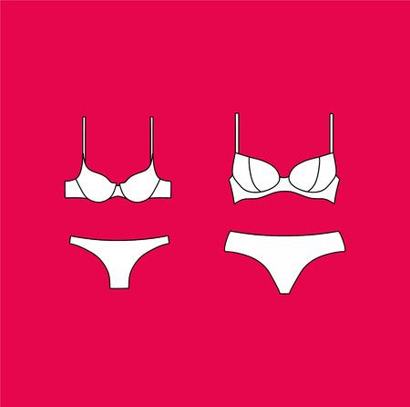 underwear. Lingerie. panties and bra