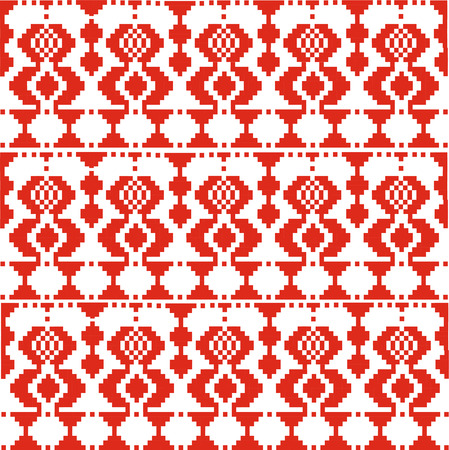 belorussian: Vector illustration. Slovenian Traditional  Ornament. Seamless Background. Illustration