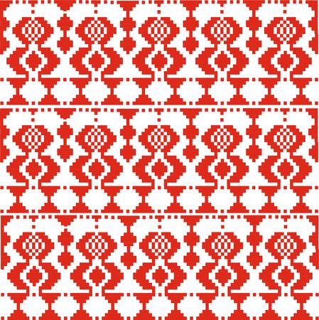 slovenian: Vector illustration. Slovenian Traditional  Ornament. Seamless Background. Illustration