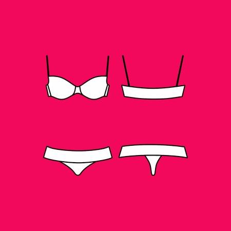 panties: underwear. Lingerie. panties and bra