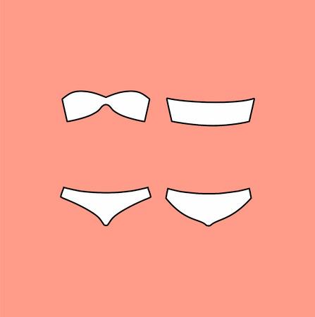 thong: underwear. Lingerie. panties and bra