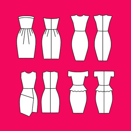 casual: Womens Clothing. Dress Womens Casual drawn vector