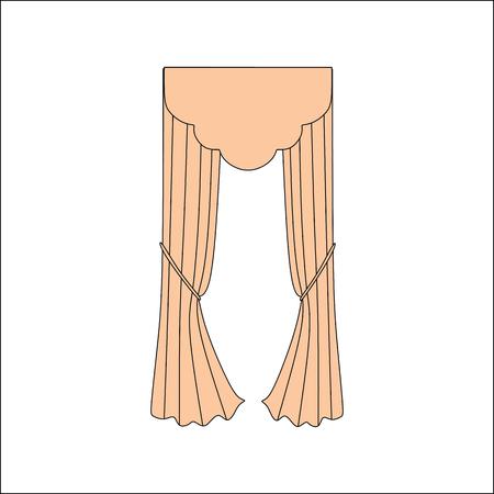 home theater: interior decoration textiles sketch. curtains. interior textiles.