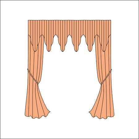 interior decoration: interior decoration textiles sketch. curtains. interior textiles.