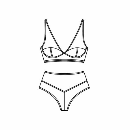 Lingerie and pantie Illustration