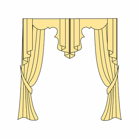 sipario chiuso: Window curtains design sketch