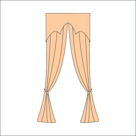 home theater: Window curtains design sketch