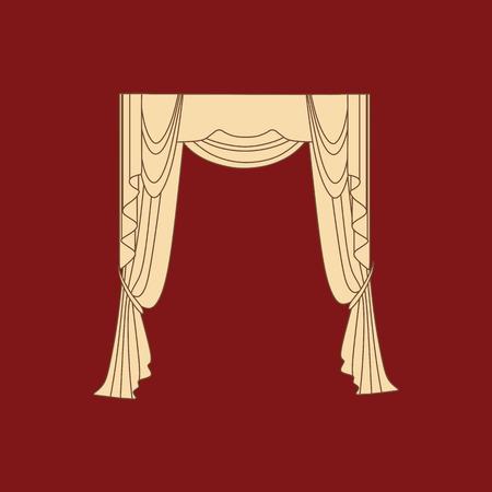 textiles: interior decoration textiles sketch. curtains. interior textiles.