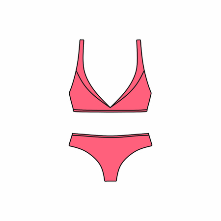 Lingerie. Bras and panties.  Sexy lingerie and pantie.   Lingerie .   underwear background. Illustration