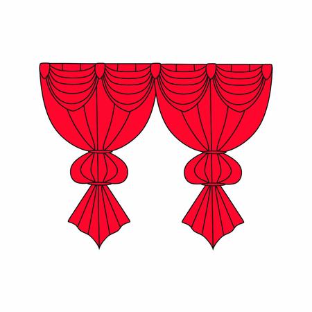 Window curtains.curtains Interior design sketch