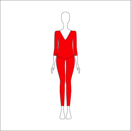 womens clothing. top and trousers drawn vector