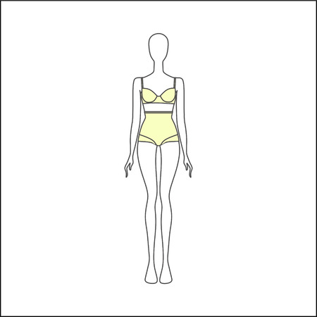 Lingerie. corrective underwear figure flaws. Underwear for obese women Illustration