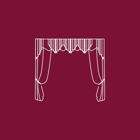 classic curtains . curtains . lambrequin